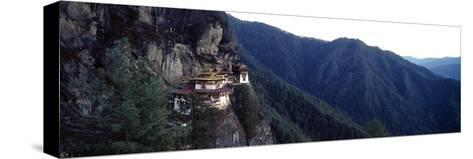 An Ancient Buddhist Monastery Perched on a Sheer Cliff Face in the Himalaya-Jason Edwards-Stretched Canvas Print