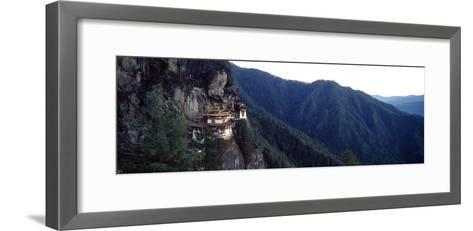An Ancient Buddhist Monastery Perched on a Sheer Cliff Face in the Himalaya-Jason Edwards-Framed Art Print