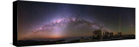 The Milky Way and Zodiacal Light over the Very Large Telescope at the European Southern Observatory-Babak Tafreshi-Stretched Canvas Print