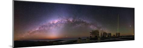 The Milky Way and Zodiacal Light over the Very Large Telescope at the European Southern Observatory-Babak Tafreshi-Mounted Photographic Print