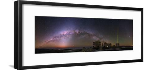 The Milky Way and Zodiacal Light over the Very Large Telescope at the European Southern Observatory-Babak Tafreshi-Framed Art Print