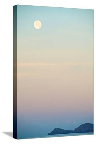 The Full Moon at Moonset over the British Virgin Islands-Heather Perry-Stretched Canvas Print