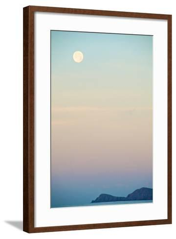 The Full Moon at Moonset over the British Virgin Islands-Heather Perry-Framed Art Print