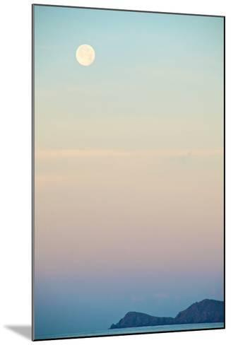 The Full Moon at Moonset over the British Virgin Islands-Heather Perry-Mounted Photographic Print