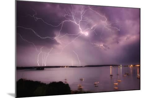 Lightning Strikes Off the Coast of Portland, Maine-Robbie George-Mounted Photographic Print