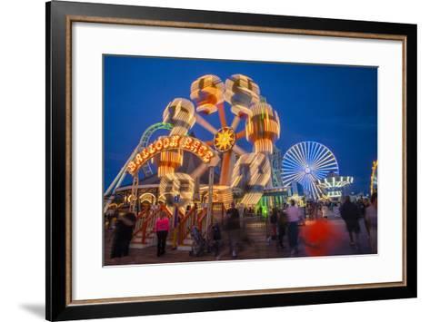 The Wildwood Beach Steel Pier's Ferris Wheel at Twilight with Blurred Motion-Richard Nowitz-Framed Art Print
