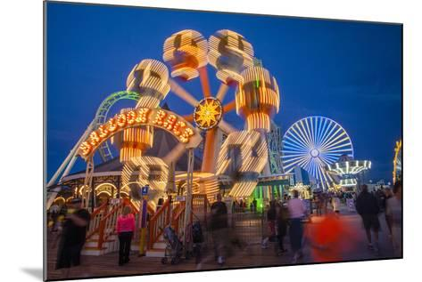 The Wildwood Beach Steel Pier's Ferris Wheel at Twilight with Blurred Motion-Richard Nowitz-Mounted Photographic Print
