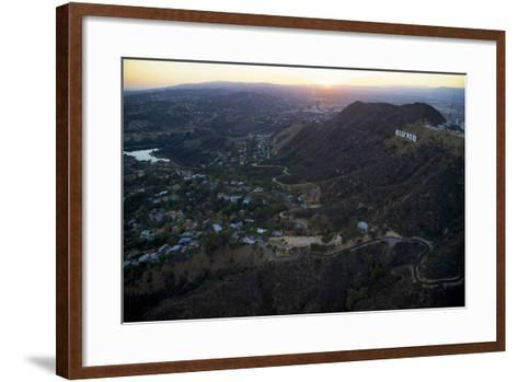 The Hollywood Sign and Griffith Park in Los Angeles-Steve Winter-Framed Art Print