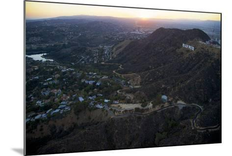 The Hollywood Sign and Griffith Park in Los Angeles-Steve Winter-Mounted Photographic Print