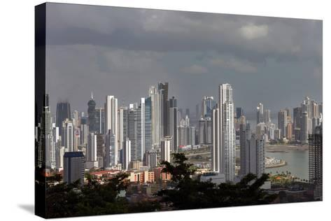 The Skyline of Panama City, Capital of Panama Glistens in the Sun Above the Pacific Ocean-Steve Raymer-Stretched Canvas Print