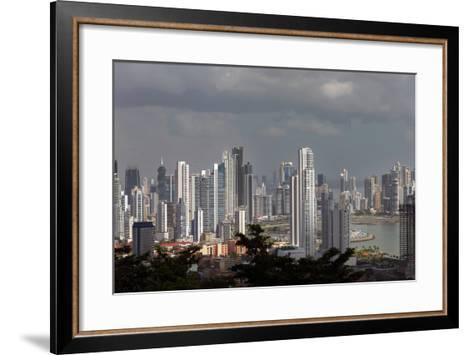 The Skyline of Panama City, Capital of Panama Glistens in the Sun Above the Pacific Ocean-Steve Raymer-Framed Art Print