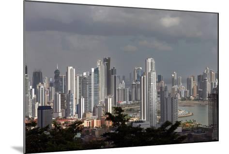 The Skyline of Panama City, Capital of Panama Glistens in the Sun Above the Pacific Ocean-Steve Raymer-Mounted Photographic Print
