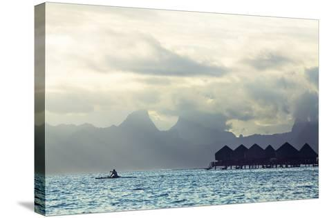 Tahiti Island, with Moorea in the Background-Andy Bardon-Stretched Canvas Print