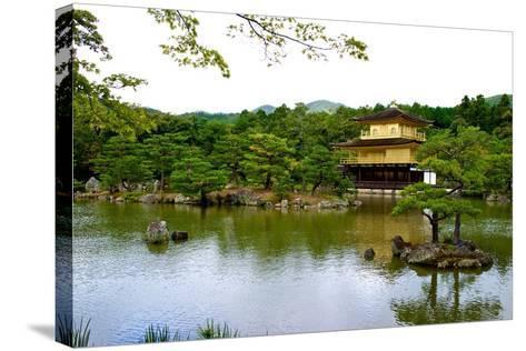 Kyoto's Kinkaku Golden Pavilion at Rokuon-Ji Temple-Heather Perry-Stretched Canvas Print