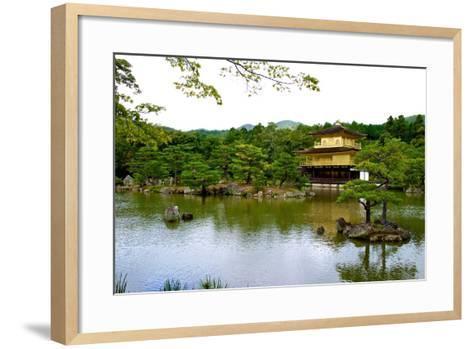 Kyoto's Kinkaku Golden Pavilion at Rokuon-Ji Temple-Heather Perry-Framed Art Print
