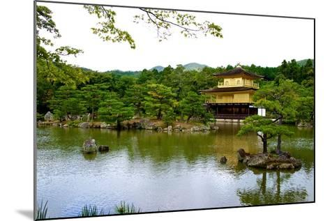 Kyoto's Kinkaku Golden Pavilion at Rokuon-Ji Temple-Heather Perry-Mounted Photographic Print
