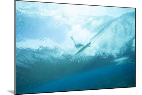 Underwater View of a Surfer on a Surfboard-Andy Bardon-Mounted Photographic Print