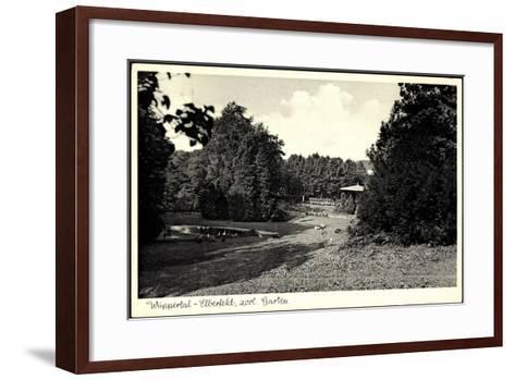 Wuppertal Elberfeld, Partie Im Zoologischen Garten--Framed Art Print