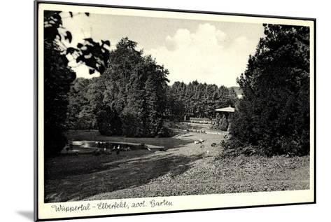 Wuppertal Elberfeld, Partie Im Zoologischen Garten--Mounted Photographic Print