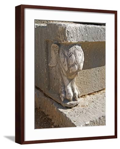 Winged Lion's Foot, Letoon, Turkey--Framed Art Print