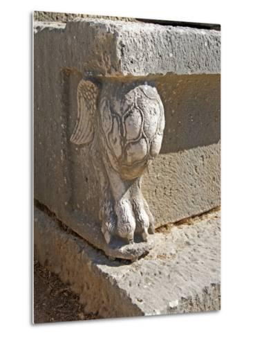 Winged Lion's Foot, Letoon, Turkey--Metal Print