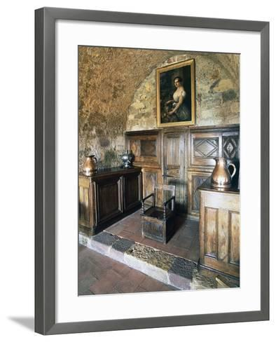 Wood Panelling, Castle of Turenne, Meyssac, Limousin, France--Framed Art Print