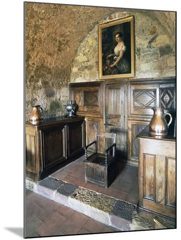 Wood Panelling, Castle of Turenne, Meyssac, Limousin, France--Mounted Photographic Print