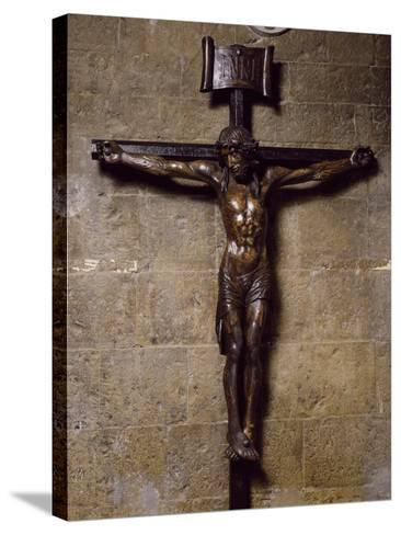 Wooden Crucifix Preserved in San Siro Co-Cathedral, Sanremo. Italy, 12th-17th Centuries--Stretched Canvas Print