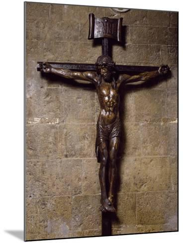 Wooden Crucifix Preserved in San Siro Co-Cathedral, Sanremo. Italy, 12th-17th Centuries--Mounted Photographic Print