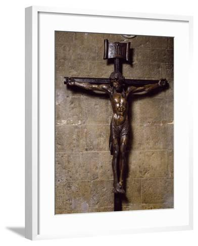 Wooden Crucifix Preserved in San Siro Co-Cathedral, Sanremo. Italy, 12th-17th Centuries--Framed Art Print