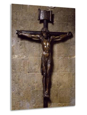 Wooden Crucifix Preserved in San Siro Co-Cathedral, Sanremo. Italy, 12th-17th Centuries--Metal Print