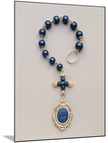 Yellow and Red Gold Rosary with Diamonds and Lapis Lazuli--Mounted Photographic Print