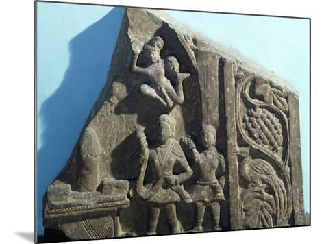 Worshipers Bearing Offerings to Shiva Linga, Mathura, India, Kushan Empire--Mounted Photographic Print