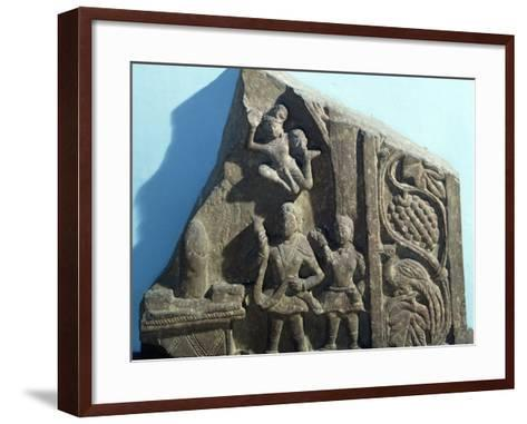 Worshipers Bearing Offerings to Shiva Linga, Mathura, India, Kushan Empire--Framed Art Print