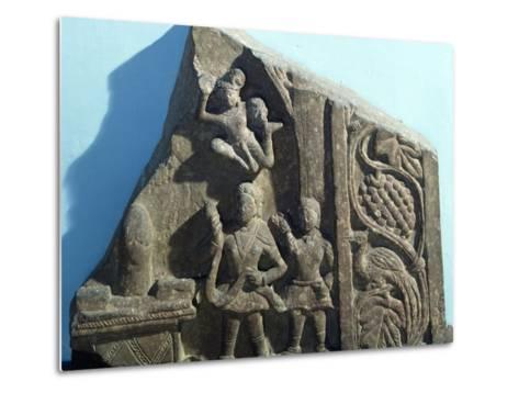 Worshipers Bearing Offerings to Shiva Linga, Mathura, India, Kushan Empire--Metal Print
