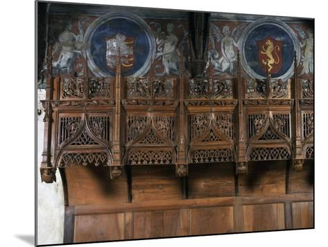 Wooden Choir Stalls in Chamber of Marguerite of Foix, Casa Cavassa, Saluzzo, Piedmont, Italy--Mounted Photographic Print