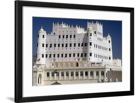 Yemen, Seiyun, Hadhramaut Region, Sultan Al Kathiri Palace Exterior--Framed Art Print