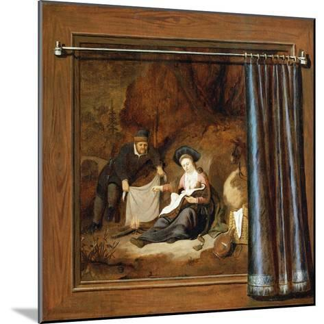 A Trompe L'Oeil of the Rest on the Flight into Egypt-Accursio Baldi-Mounted Giclee Print