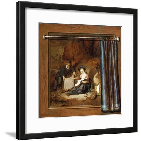 A Trompe L'Oeil of the Rest on the Flight into Egypt-Accursio Baldi-Framed Art Print