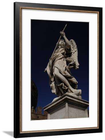 Angel with a Spear-Domenico Induno-Framed Art Print