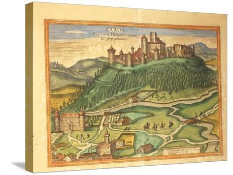 Zaros, Crete from Civitates Orbis Terrarum by Georg Braun, 1541-1622 and Franz Hogenberg, 1540-1590--Stretched Canvas Print