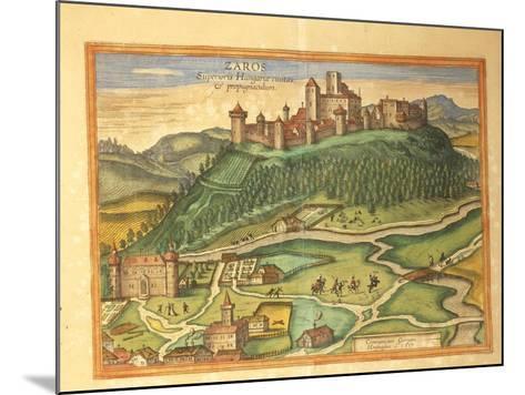 Zaros, Crete from Civitates Orbis Terrarum by Georg Braun, 1541-1622 and Franz Hogenberg, 1540-1590--Mounted Photographic Print