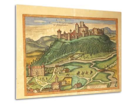 Zaros, Crete from Civitates Orbis Terrarum by Georg Braun, 1541-1622 and Franz Hogenberg, 1540-1590--Metal Print