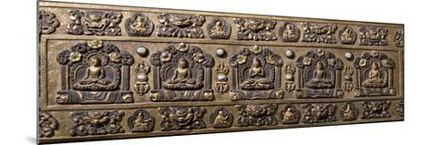 Wood and Bronze Book Cover, Inlaid with Semiprecious Stones, Tibet, 18th-19th Century--Mounted Photographic Print