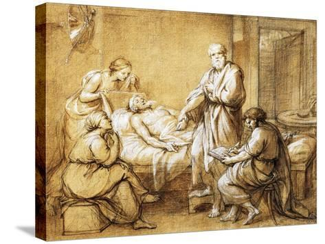 Testament of Eudamida, 1758-Anton Raphael Mengs-Stretched Canvas Print
