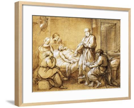 Testament of Eudamida, 1758-Anton Raphael Mengs-Framed Art Print