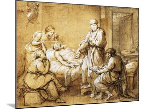 Testament of Eudamida, 1758-Anton Raphael Mengs-Mounted Giclee Print