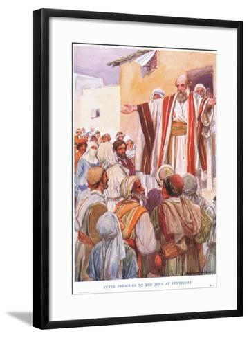 Peter Preaches to the Jews at Pentecost-Arthur C. Michael-Framed Art Print