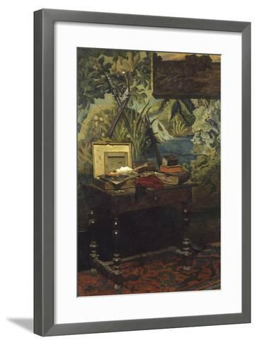 A Corner of the Studio, 1861-Claude Monet-Framed Art Print