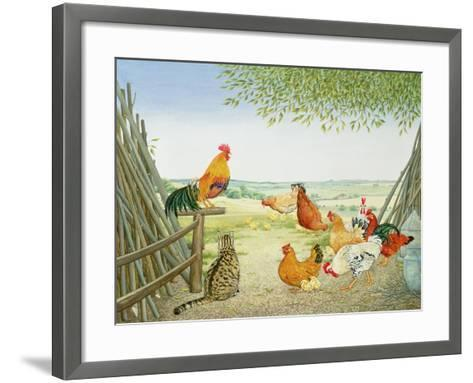 The Fowl and the Pussycat-Ditz-Framed Art Print